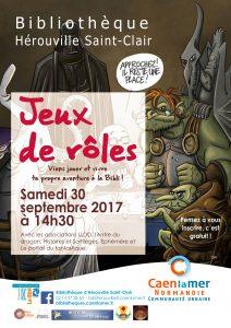 Journée Jeux de Rôle à Hérouville Saint-Clair le samedi 30 septembre à 14h30
