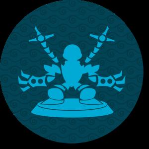 Figurine de robot avec de grandes griffes et des bras-tentacules façon Dr. Octopus